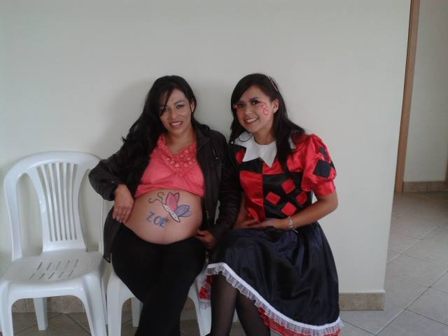 belly art, bellypaint, baby shower