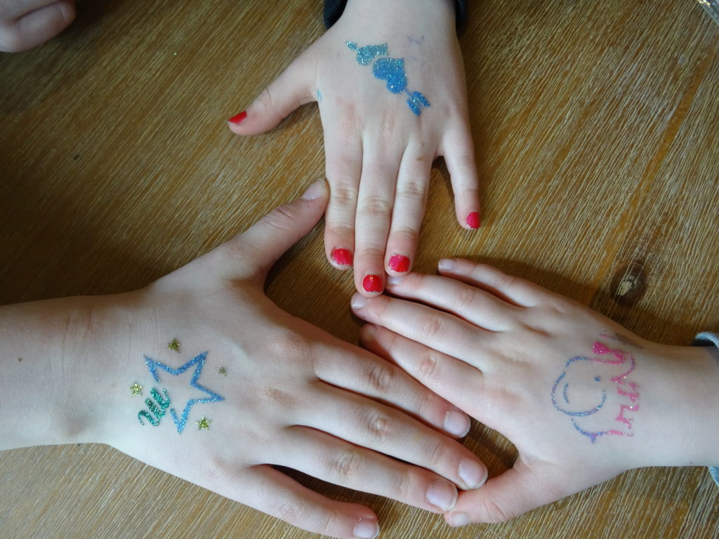 glitter tattoo, tattoo amsterdam, facepainting kids party